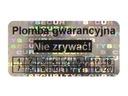 PLOMBY GWARANCYJNE STICKERY 30x15 HOLOGRAM 250SZT