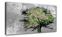 Картина на холсте Дерево листья ЦВЕТНОЙ