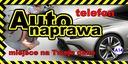 GOTOWE PROJEKTY Baner reklamowy 2mx1m AUTO SERWIS Waga (z opakowaniem) 1 kg