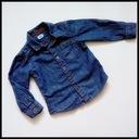 F&F* koszula jeansowa KIESZONKA rool-up 92-98