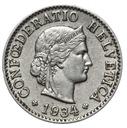 Szwajcaraia - moneta - 5 Rappen 1934