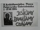 1984 pielgrzymka Gniezno Solidarność
