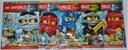 LEGO NINJAGO zestaw 5x KSIĄŻKA MAGAZYN KOMIKS nowe