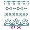 Szablon 15 x 16,5 cm - SCR001 FaFa me 11,00