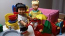 Lego duplo dolls lalki mebelki domek szafka