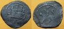 Sredniowiecze,moneta z brazu,wykopki Hiszpania