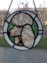 Zawieszka Pies ze szkła witrażowego