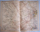 NIEMCY DUNSBURG. Mapa kolejowa.