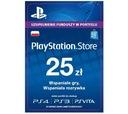 Doładowanie PlayStation Store 25 zł AUTOMAT 1 MIN
