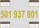 -- 501 937 801 -- ZŁOTY NUMER ORANGE, F. VAT 23%