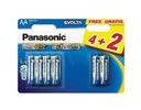 Panasonic Bateria alkaliczna AA Evolta LR6EGE/6BP