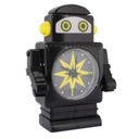 Zegar Robot - NINJA czarny oczy diody led ruchomy