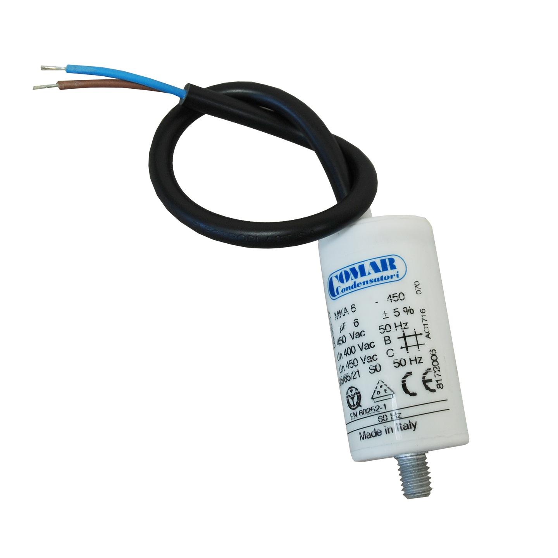 Kondensator rozruchowy silnika 6uF 450 VAC 60Hz (6866849825 ...