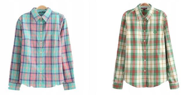 bbc93d92ebc6 Ženské kockované košele vintage móda móda S 36