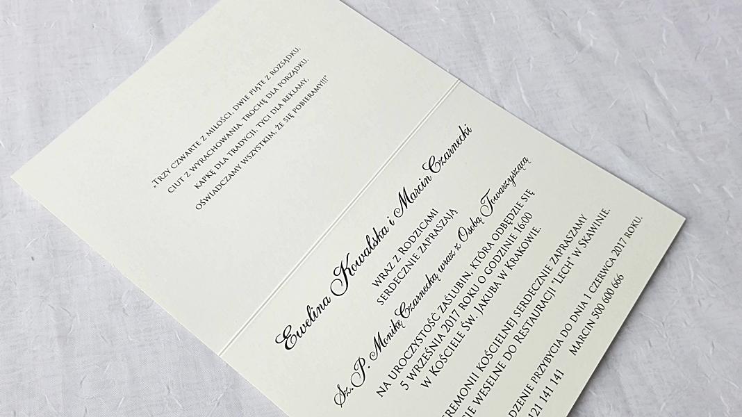 Zaproszenia ślubne Oryginalne Parzenica 7195672960 Allegropl