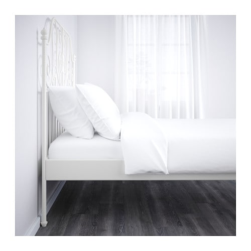 Ikea Leirvik Rama łóżka 140x200 Dno łóżko Biały