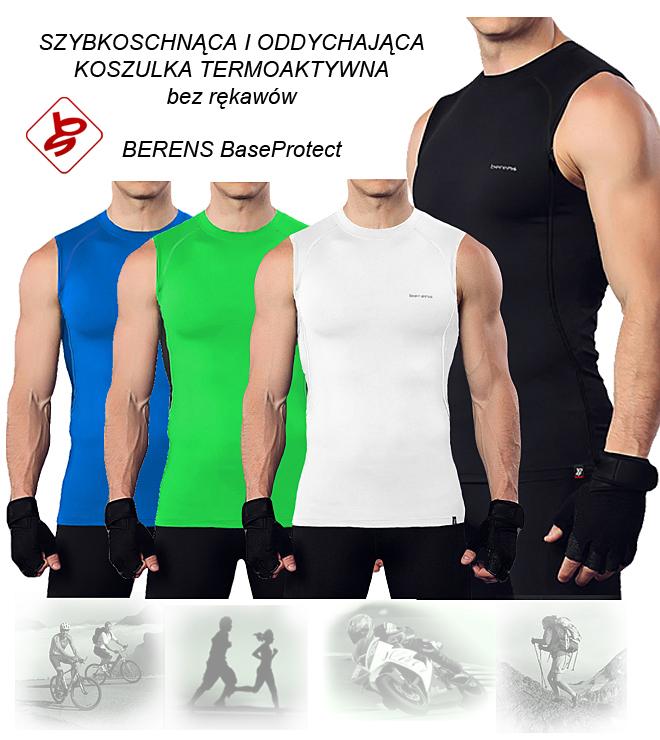 4897cfb53f5853 Uniwersalna koszulka termoaktywna bez rękawów Berens BASEPROTECT - w sam  raz na letnie upały lub jako podkoszulek w chłodniejsze dni.