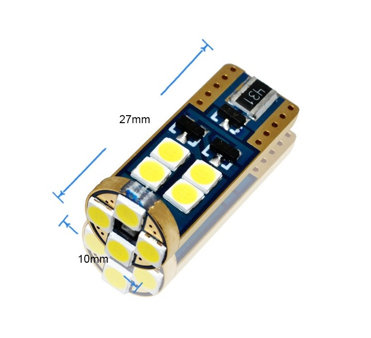 W5W T10 12 SMD 3030 CANBUS diody osram