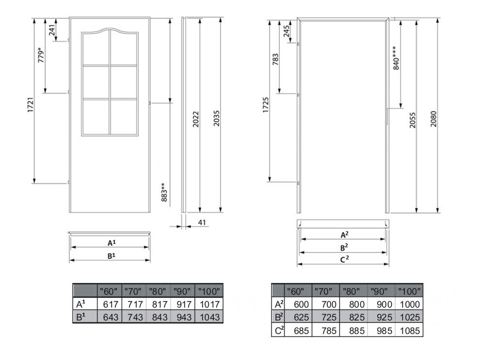 Drzwi Do łazienki Drewniane Sosnowe Modena 80 Lewe