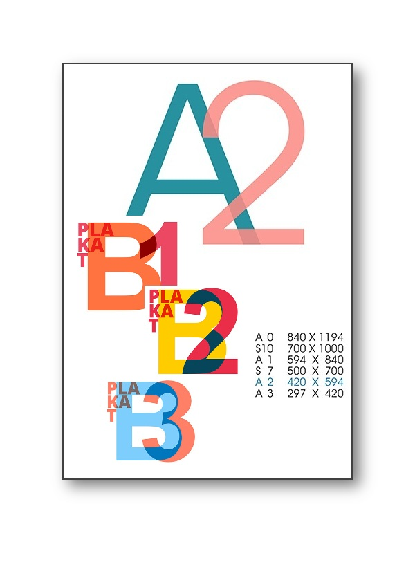 Plakaty A2 Lux Jakość Kreda 130g 100szt