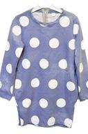 Tunika sukienka dziewczęca długi rękaw grochy 128