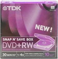 Płyty do kamer TDK Mini DVD+RW 8cm 1,4GB 10 sztuk