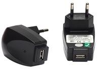 ŁADOWARKA SIECIOWA USB 1000ma 1A 5V PLP41 Z DIODĄ