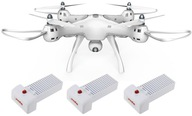 Dron SYMA X8 PRO Kamera PODGLĄD ZAWIS GPS 3xAKUMUL