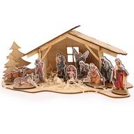 Szopka bożonarodzeniowa drewniana do dekorowania
