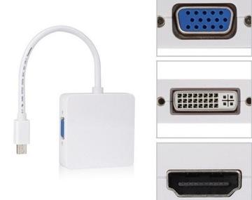 АДАПТЕР MACBOOK 3 В 1 HDMI, VGA, DVI - MINIDISPLAYPORT доставка товаров из Польши и Allegro на русском