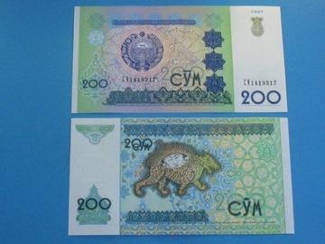Узбекистан Банкнота достоинством 200 Сум 1997 P-80, UNC доставка товаров из Польши и Allegro на русском
