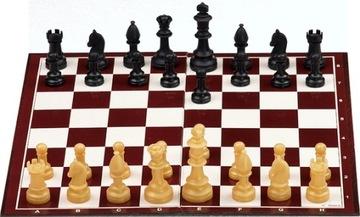 Шахматы набор школьный ФИГУРЫ + шахматная доска 33см доставка товаров из Польши и Allegro на русском