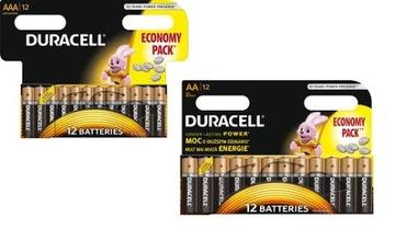 Батарея DURACELL BASIC 12x LR03 AAA + 12x LR6 AA доставка товаров из Польши и Allegro на русском