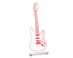 Гитара LED - подарок для музыка НОВИНКА ! ! ! доставка товаров из Польши и Allegro на русском