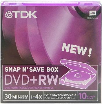 Диски для видеокамер TDK Mini DVD+RW 8cm 1,4 GB 10 штук доставка товаров из Польши и Allegro на русском