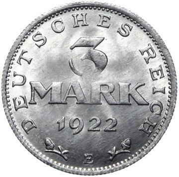 Германия - монета 3 Марки 1922 E - MENNICZA ИЗ РУЛОНА доставка товаров из Польши и Allegro на русском