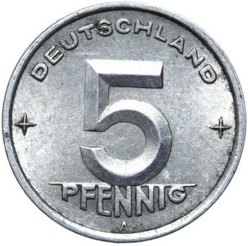 Германия DDR - монета - 5 Pfennig 1949 Года, А - БЕРЛИН доставка товаров из Польши и Allegro на русском