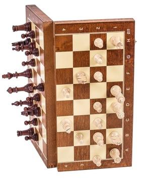 SQUARE Шахматы деревянные МАГНИТНЫЕ STAUNTON 4 доставка товаров из Польши и Allegro на русском