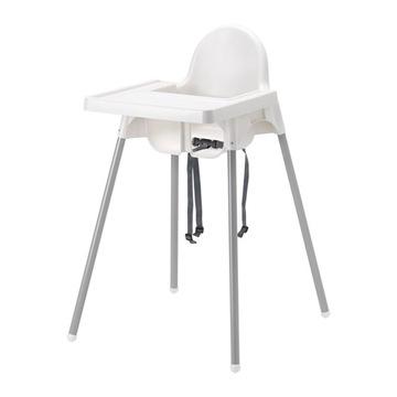 IKEA ANTILOP Стульчик для кормления с ремнями +ЛОТОК доставка товаров из Польши и Allegro на русском