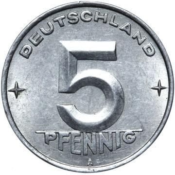 Германия DDR - монета - 5 Pfennig 1952 Года, А - БЕРЛИН доставка товаров из Польши и Allegro на русском
