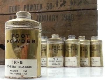 FOOT POWDER box original GB ___ МАЛЕНЬКИЙ 1940  доставка товаров из Польши и Allegro на русском