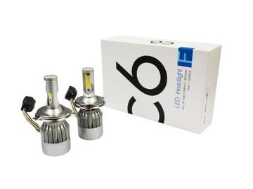 СВЕТОДИОДНЫЕ лампы H4 72W Набор 7600lm COB - 2шт доставка товаров из Польши и Allegro на русском