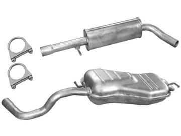VW GOLF 4 IV 1.6FSI 1.8 2.0 2.3 TŁUMIKI + ХОМУТЫ '