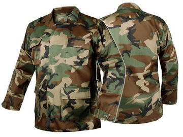 Vojenská mikina Jednotná bunda BDU T / C Woodland L