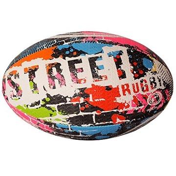 Optimálna ulica Rugby Ball Multicolor 5