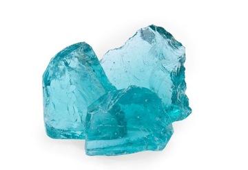 Dekoračné kamenné sklo na dekoráciu tyrkysovej farby 25 KG