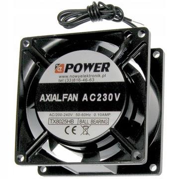 Priemyselný ventilátor 80x80x25 230V Kulka Nepower