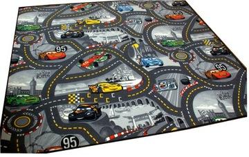 CARPET DISNEY CARS ROAD MAT ULICE AUTÁ 200x300 2x3