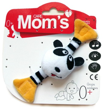 Maskot mamičky Rattle s rúčkou 0m + Panda Hencz