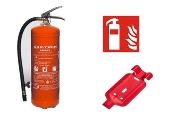 6kg hasiaci prístroj, počas 20 rokov + Hanger + Sign + Legalizácia!